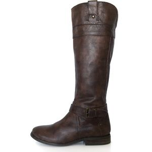 Marc Fisher Leather Wide Calf Tall Riding Boots 6M